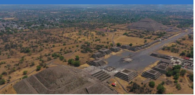 Bulldozers in the outskirts of Teotihuacan destroy part of this important archaeological site